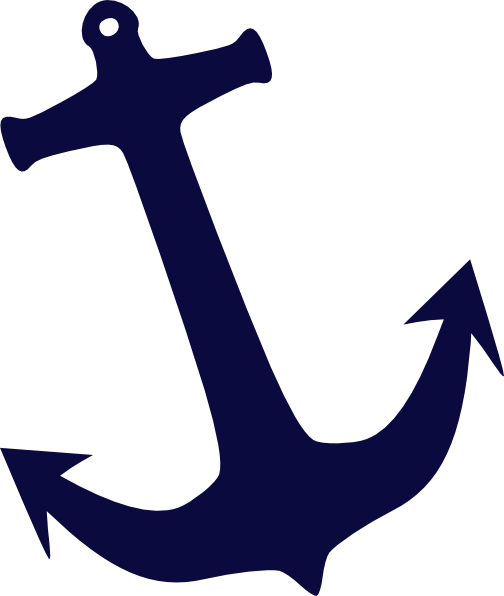png transparent stock Vector anchors outline. Tilt navy anchor clip