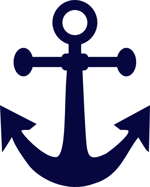 png black and white stock Anchor Navy Blue Clip Art at Clker