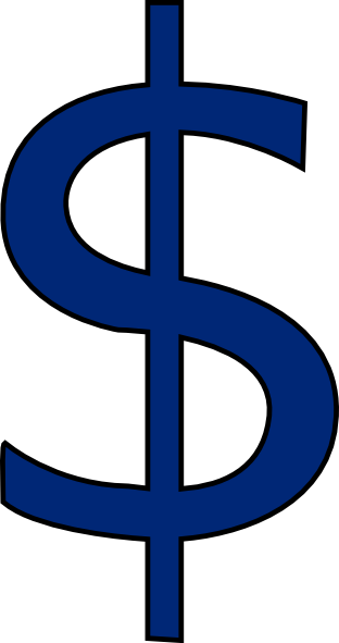 vector free download Navy Blue Dollar Sign Clip Art at Clker