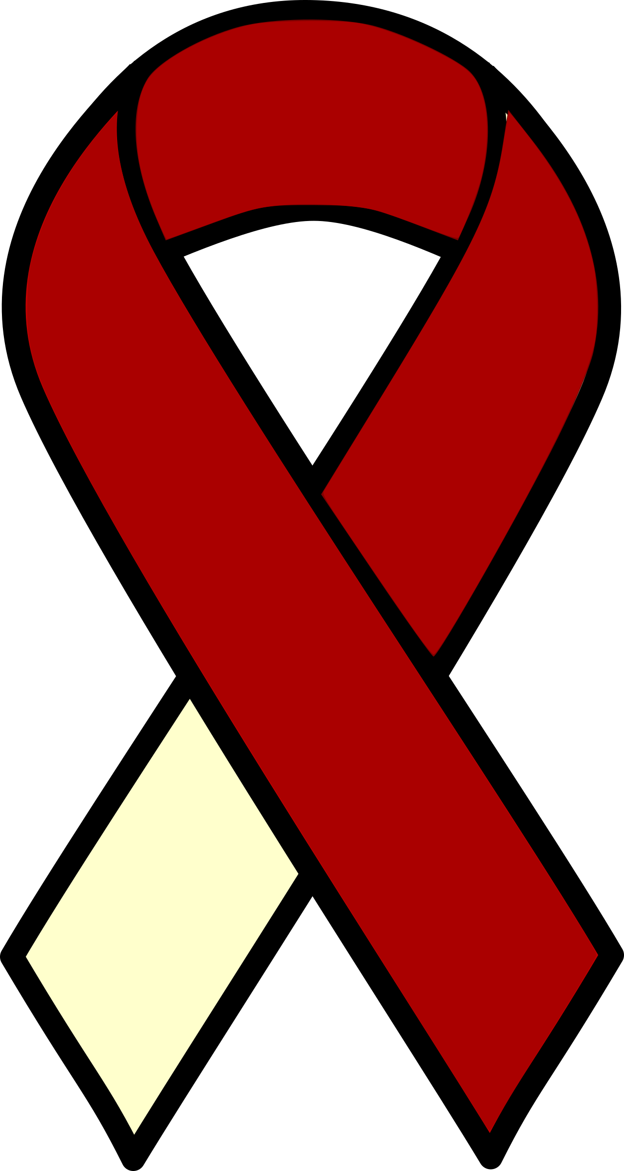 clip royalty free stock Head and cancer ribbon. Neck clipart.