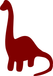 clip art black and white stock Neck clipart. Long necked dinosaur silhouette