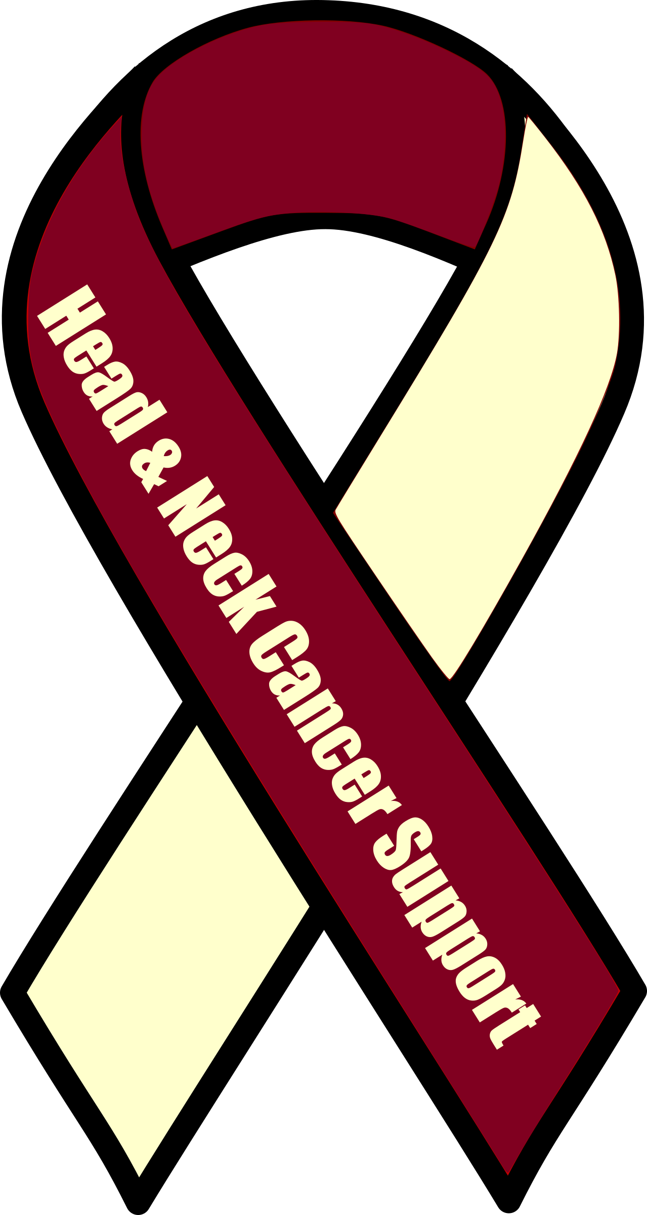 black and white library Neck clipart. Head and cancer support.
