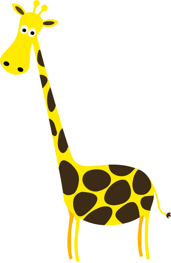 svg royalty free download Cartoon giraffe panda free. Neck clipart clip art.