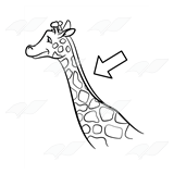 royalty free library Neck clipart giraffe. Abeka clip art with.