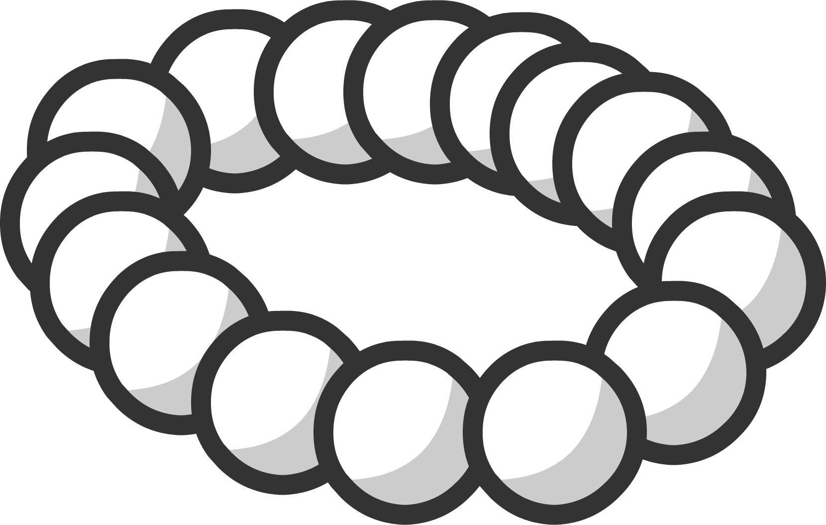 royalty free Pearl club penguin wiki. Necklace black and white clipart