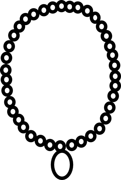 picture library library Necklace Outline Clip Art at Clker