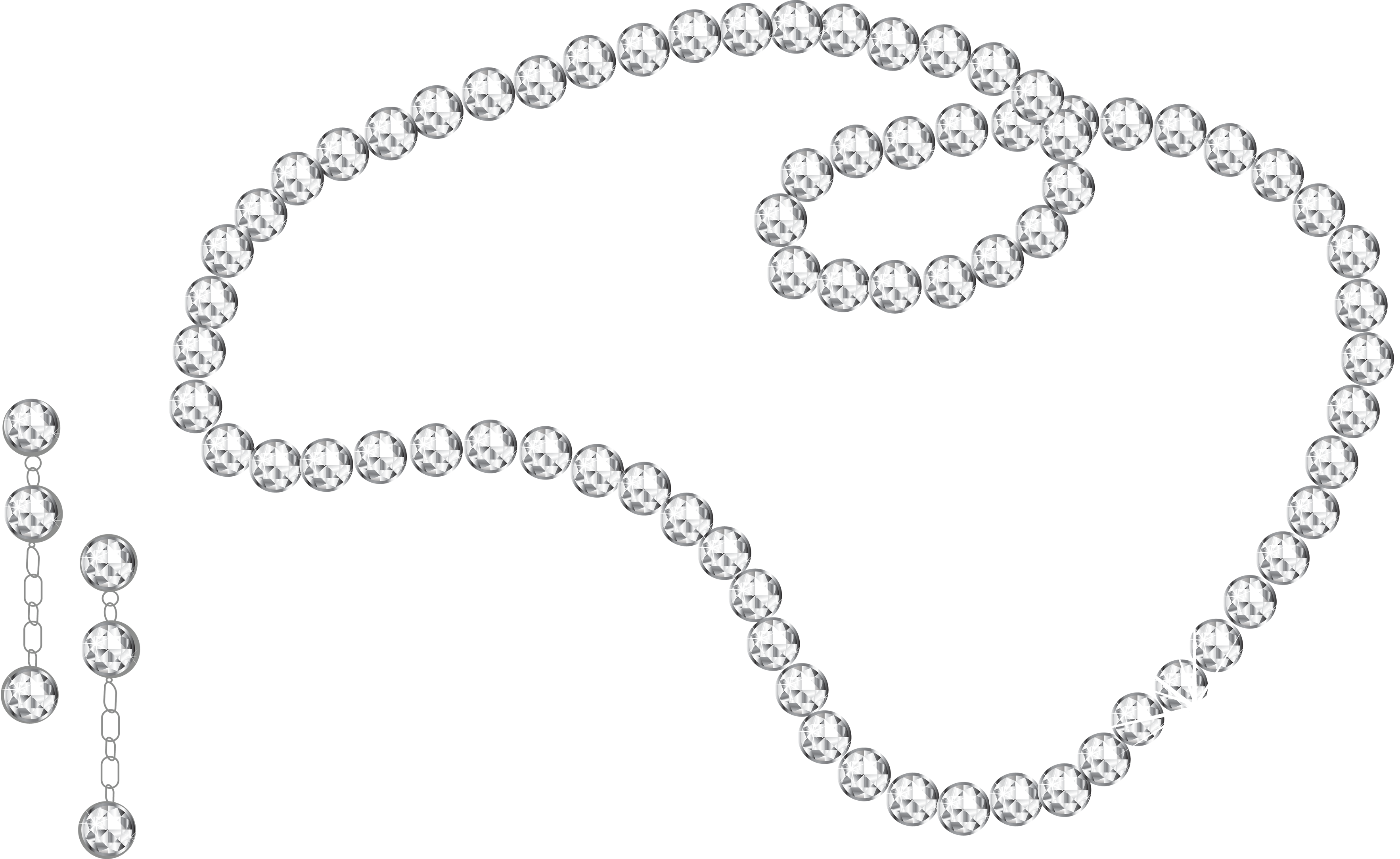 svg black and white stock Jewelry png images free. Necklace clipart necklace shell.