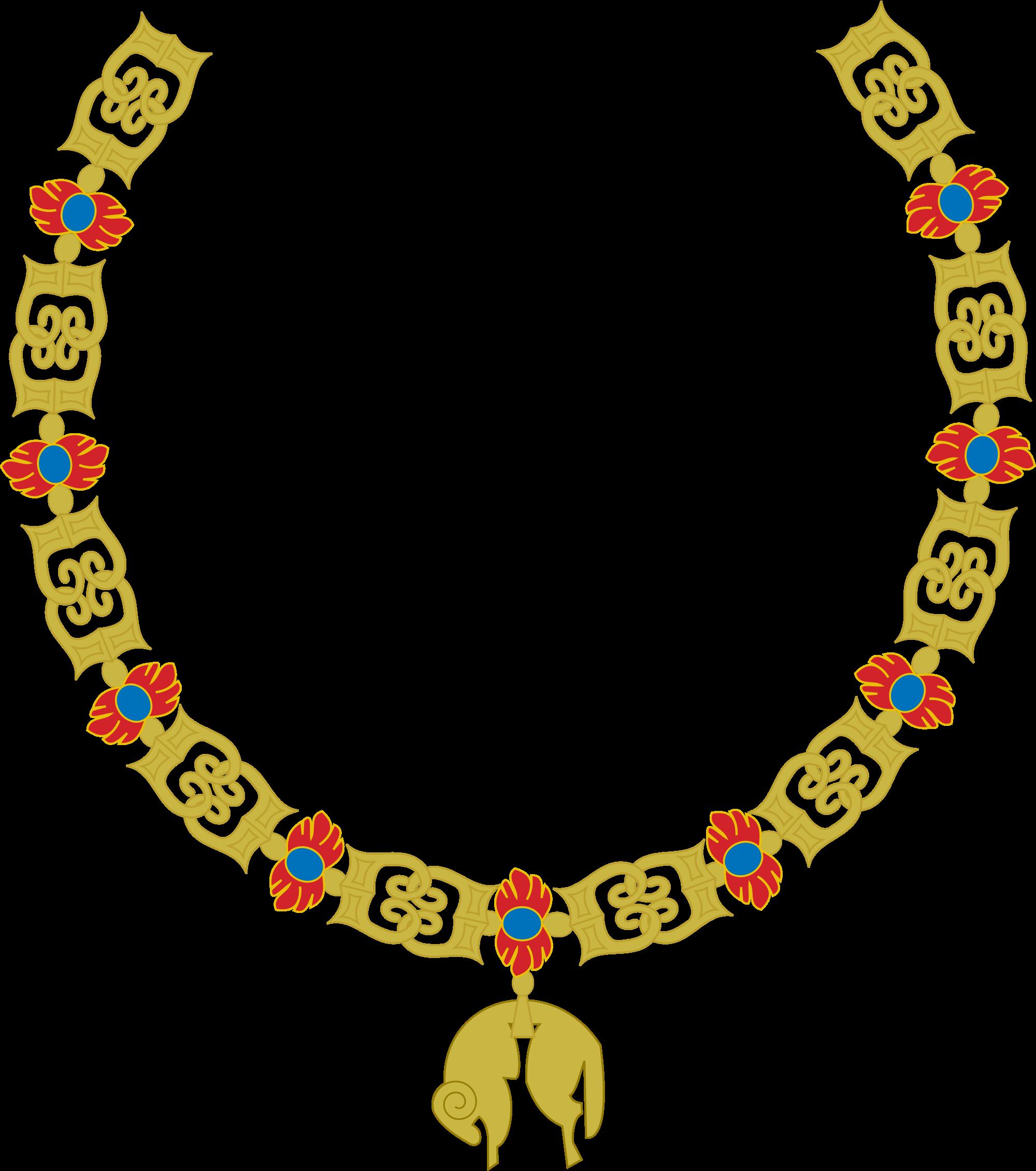 banner freeuse library File golden fleece collar. Necklace clipart svg.