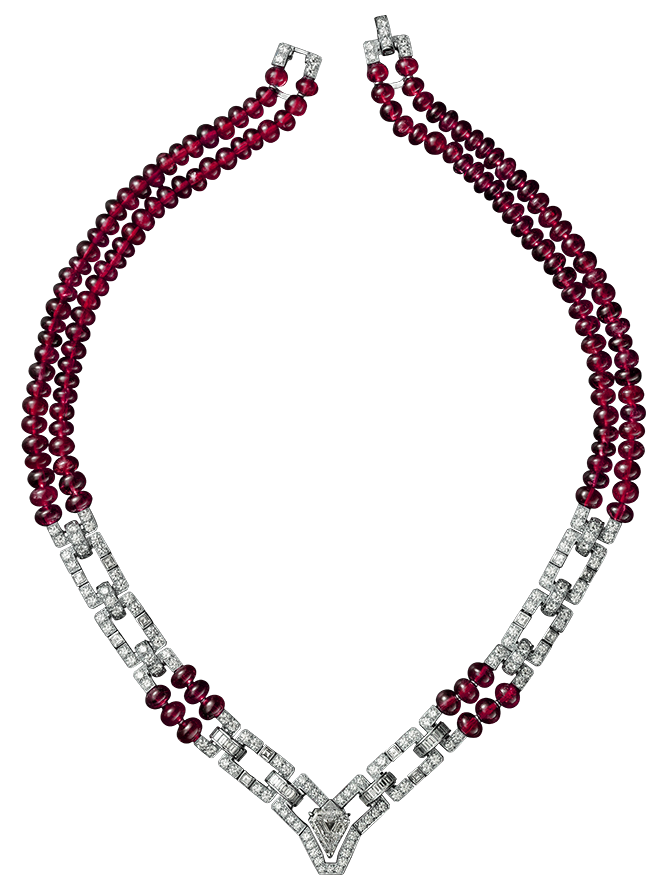 vector free library Necklace clipart. Red and white png.