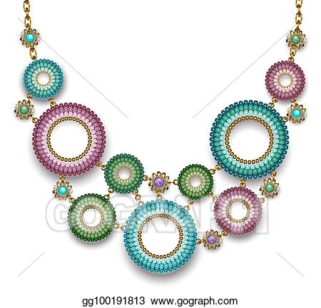 clipart library Clip art with beaded. Necklace vector bead