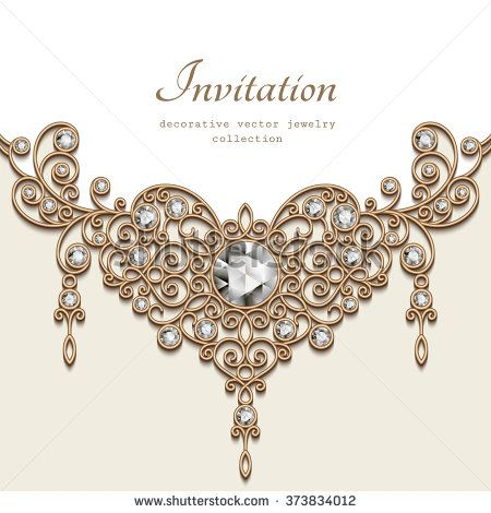 graphic royalty free download Vintage background with elegant jewelry gold decoration on