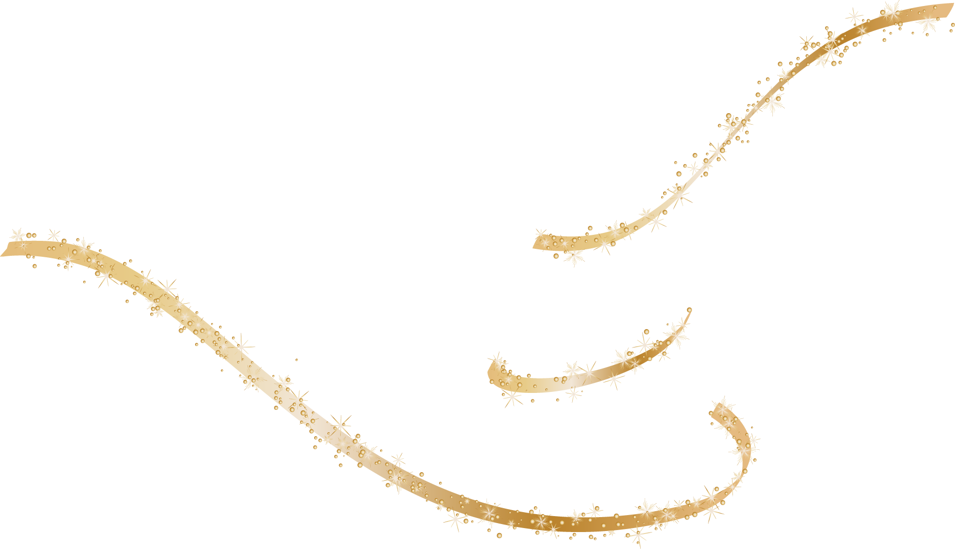 royalty free Vector painted gold ribbons