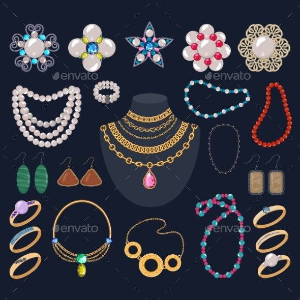 clip art freeuse stock Jewelry Vector Jewellery Gold Bracelet Necklace