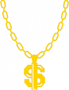 clipart transparent stock necklace vector thug life #100234675