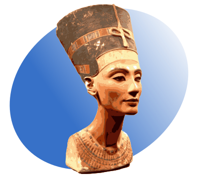clip art transparent library nefertiti vector face #100263303