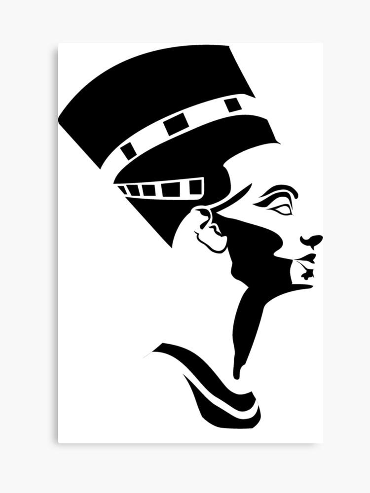 banner black and white Egyptian Queen Nefertiti