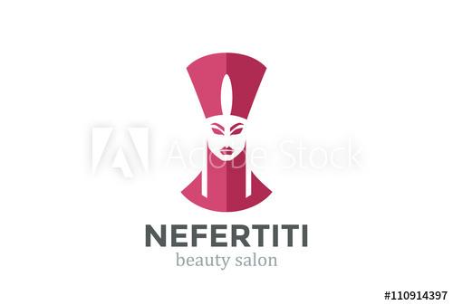 png freeuse library Nefertiti Head silhouette Beauty SPA salon Logo design