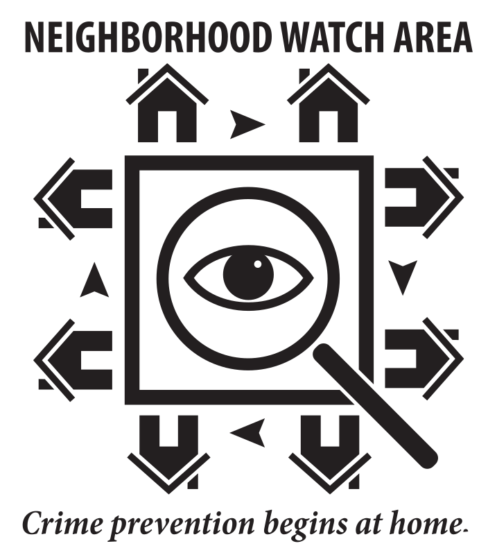 freeuse download Watch area medium image. Neighborhood clipart black and white