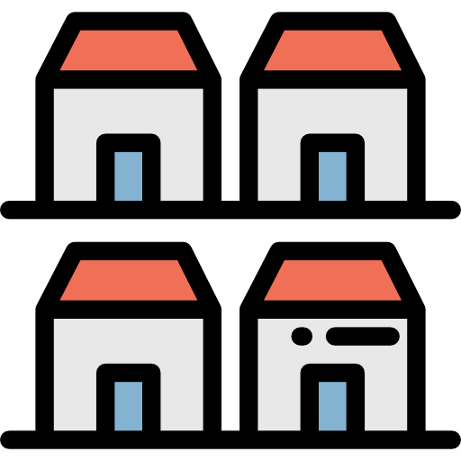 clip art library download Houses icon . Neighborhood clipart duplex.