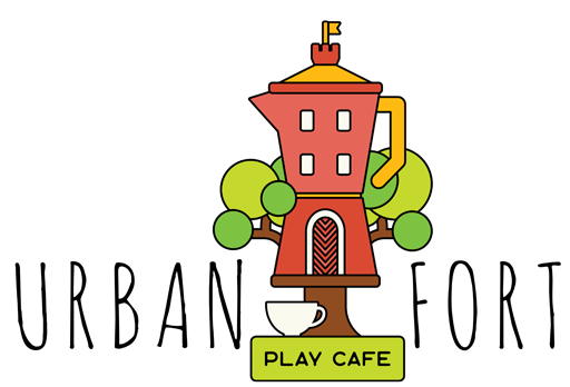 png black and white stock Urban play cafe . Playground clipart fort.