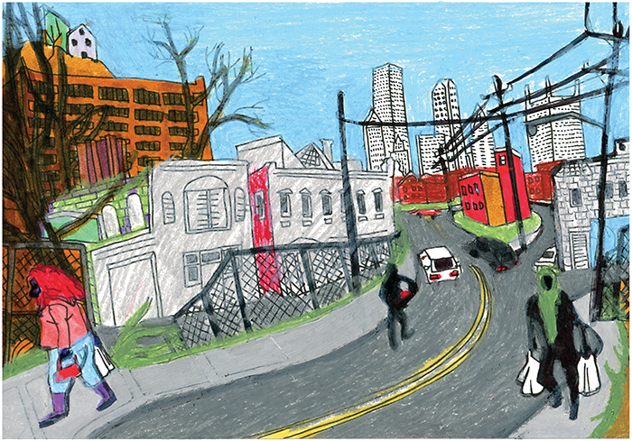 picture royalty free stock neighborhood drawing ghetto #100275520