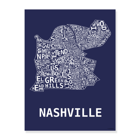 clip transparent library Nashville Neighborhood Print