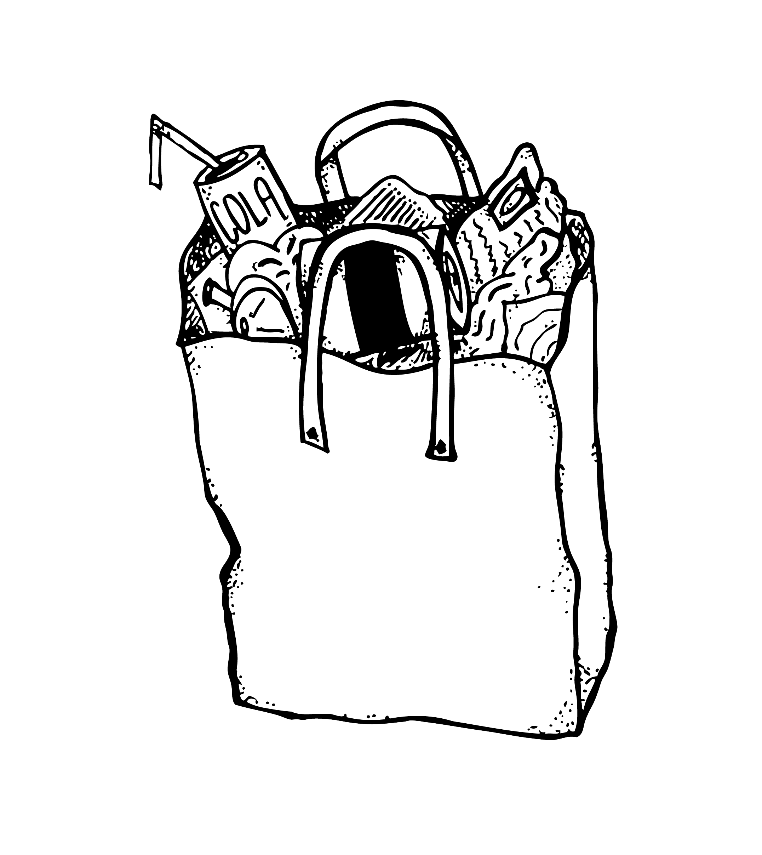 vector transparent library A Bag A Week