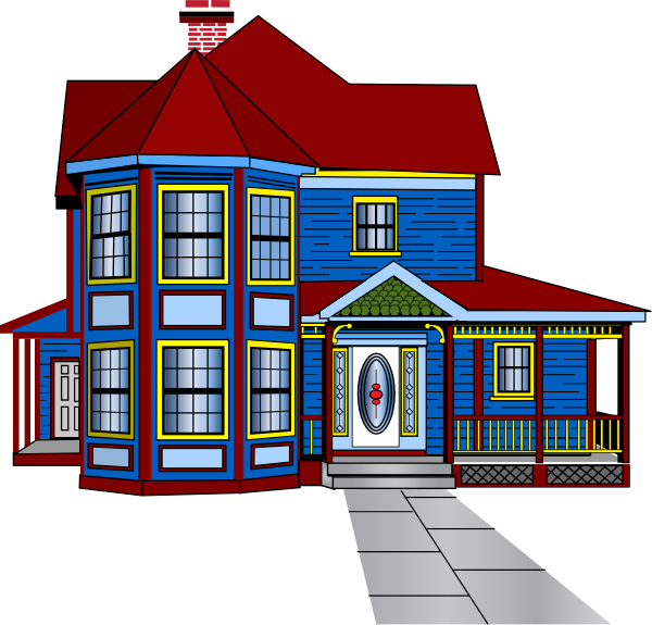 image library library Free Row Of Houses Clipart