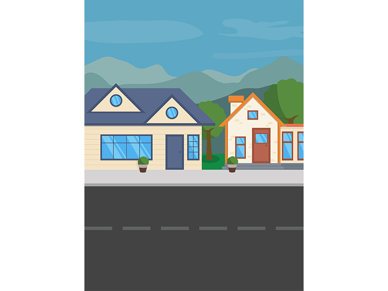 image download Neighborhood Background Vector Art by Thomas Le