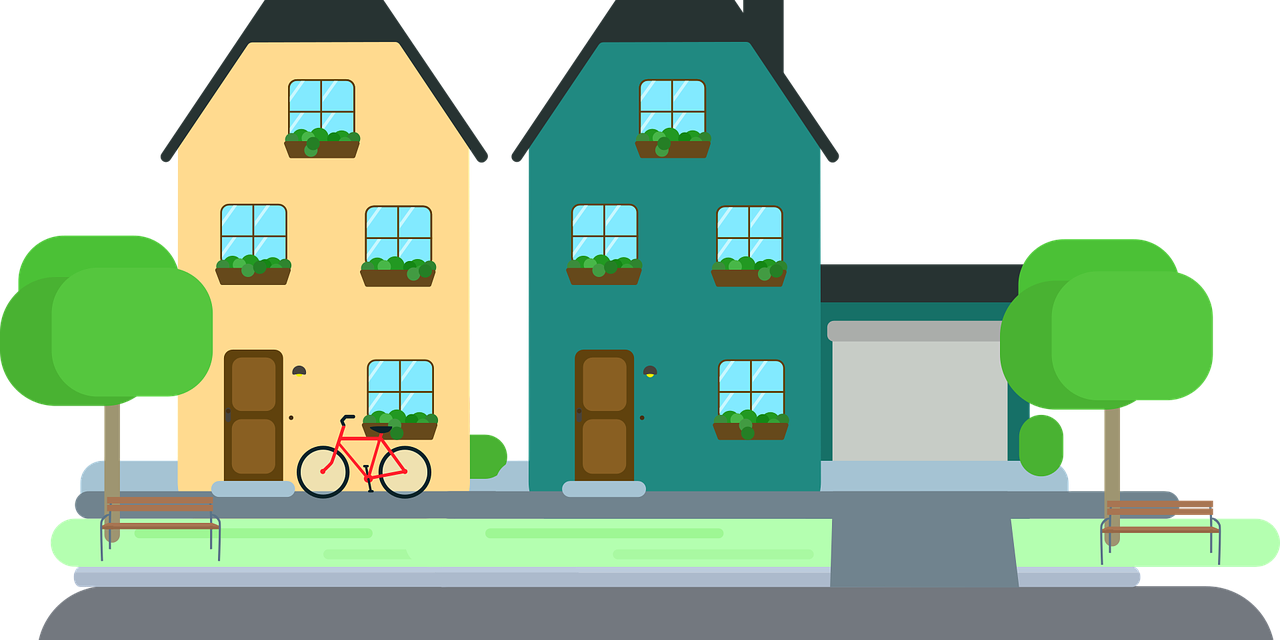 jpg royalty free stock Neighbors clipart line house. Talk to your about