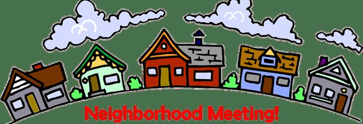 clip art transparent library General october th pierson. Neighbors clipart neighborhood meeting.