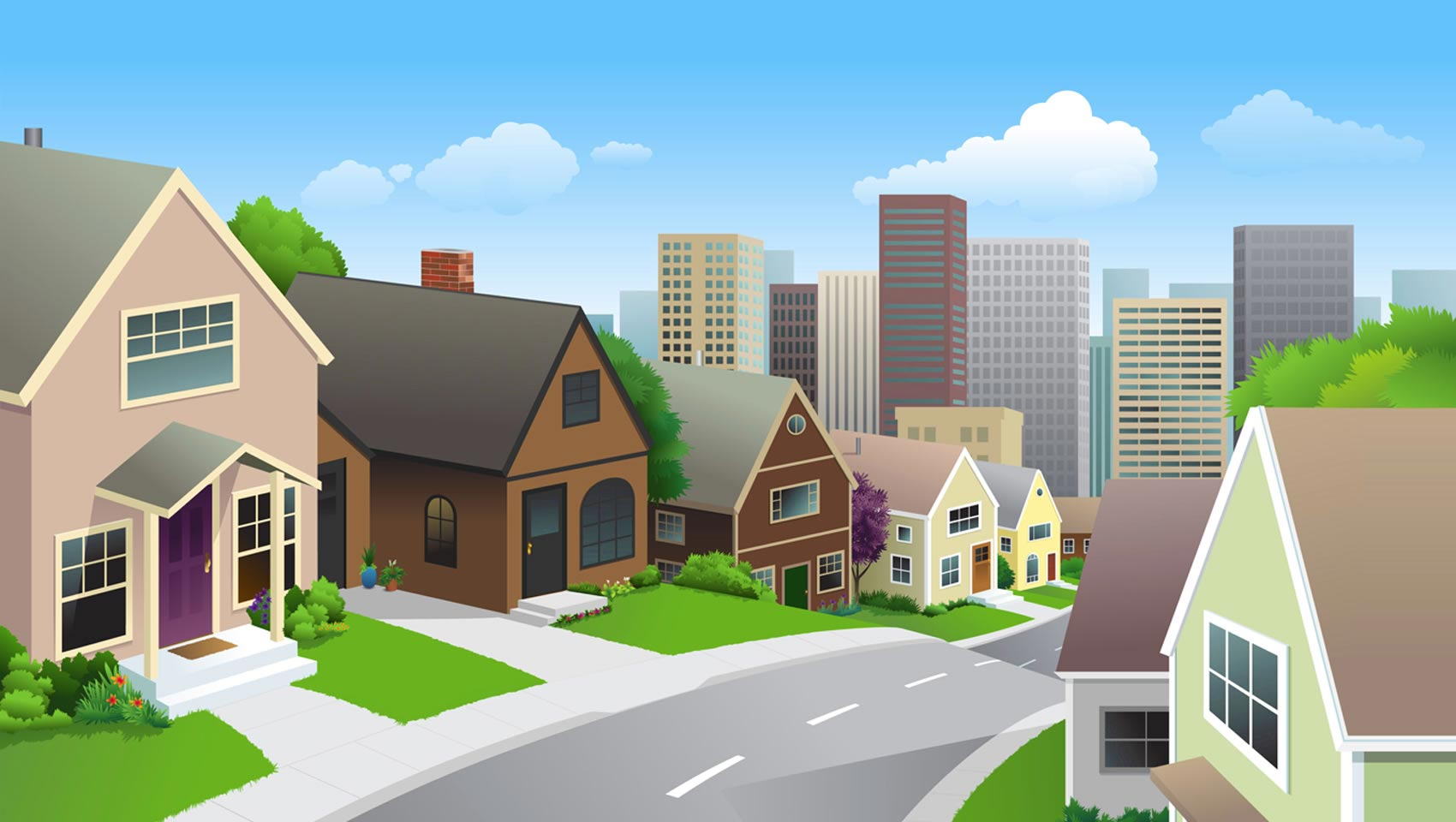 jpg library stock Free cliparts download clip. Neighbors clipart neighborhood street