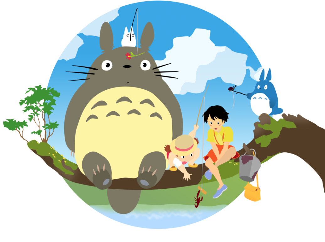 jpg My neighbor totoro vector. Neighbors clipart town center.