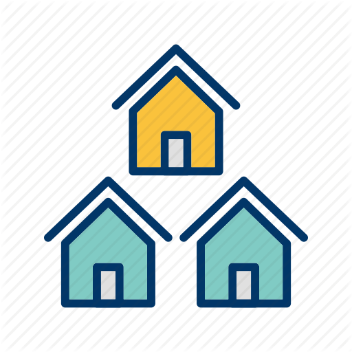 image black and white download Neighbors clipart two house. Real estate filled color.