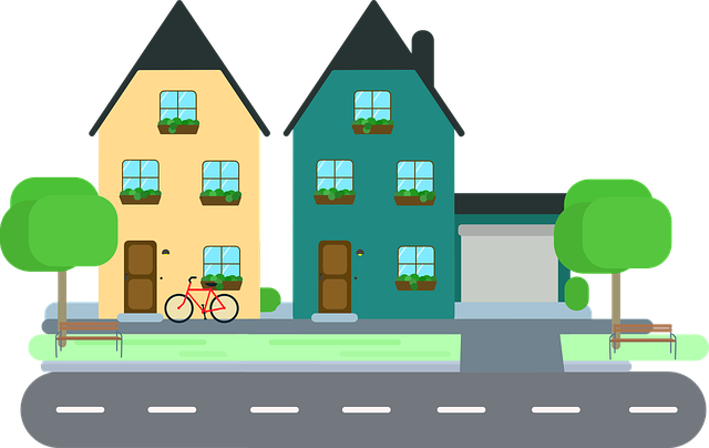svg royalty free Frames illustrations hd images. Neighbors clipart two house.