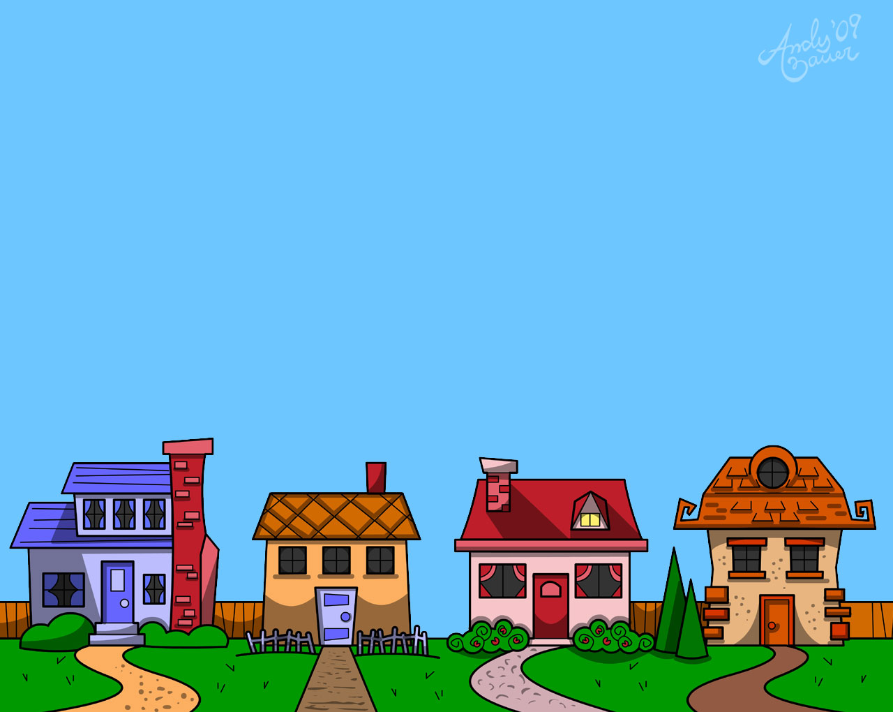 image download Free street cliparts download. Neighbors clipart two house.