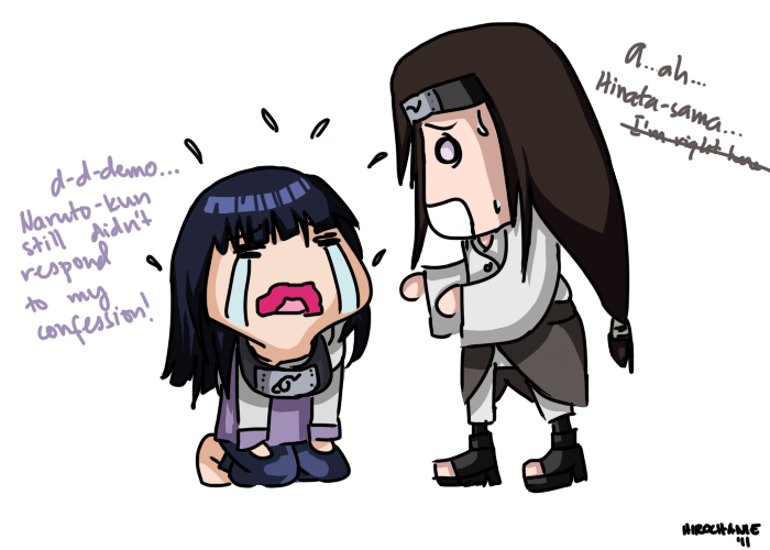 picture black and white stock Hinata and Neji