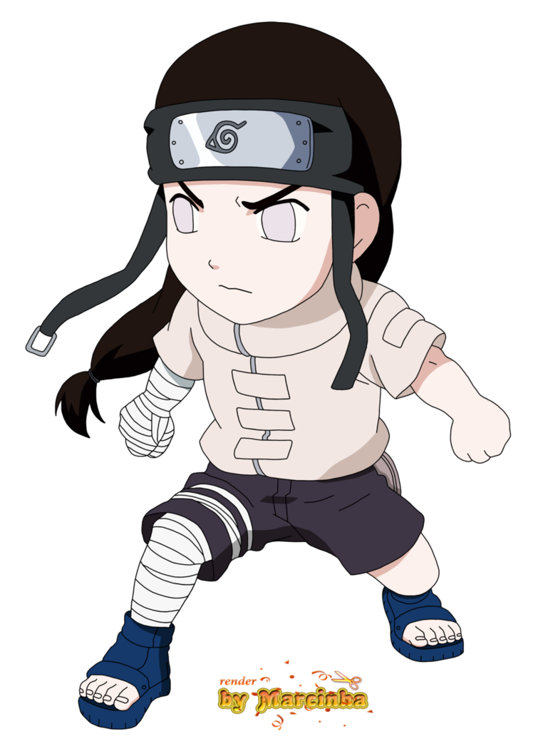 picture royalty free download Render Chibi Neji by Marcinha