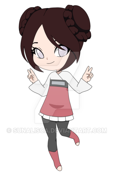 graphic transparent library Neji and Tenten Daughter Adoptable by Sunalisca on DeviantArt