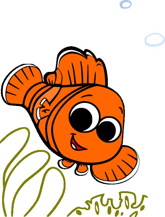 image black and white stock Nemo clipart. Clip art