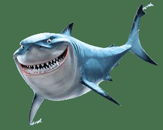 banner free download Bruce Shark Finding Nemo transparent PNG