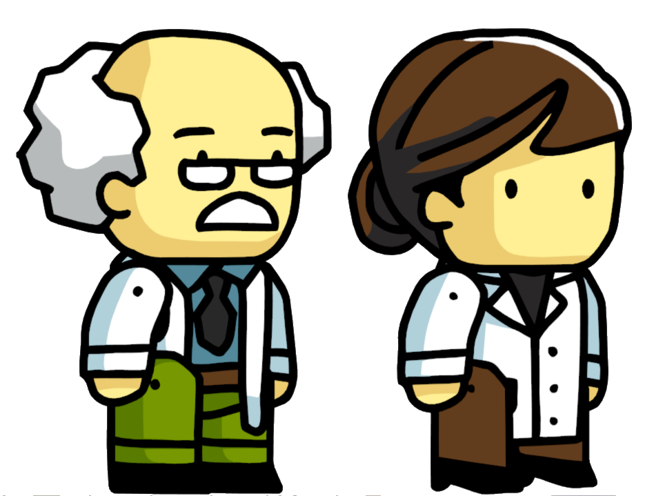 clip library stock Image science png scribblenauts. Nerd clipart scientist.