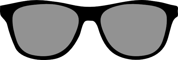 graphic black and white stock Big Sunglasses Clip Art at Clker