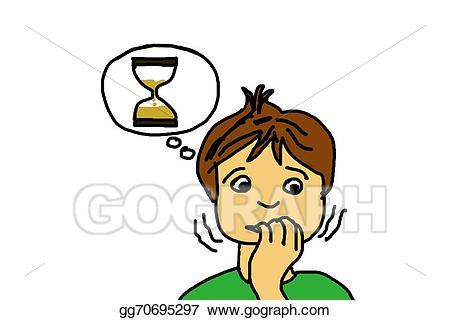 clip art stock Nervous clipart nervous child. Stock illustrations .