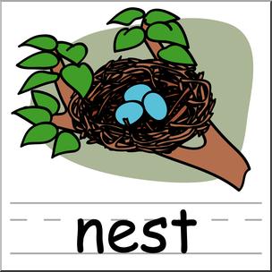 clip art download Nest clipart. Clip art basic words