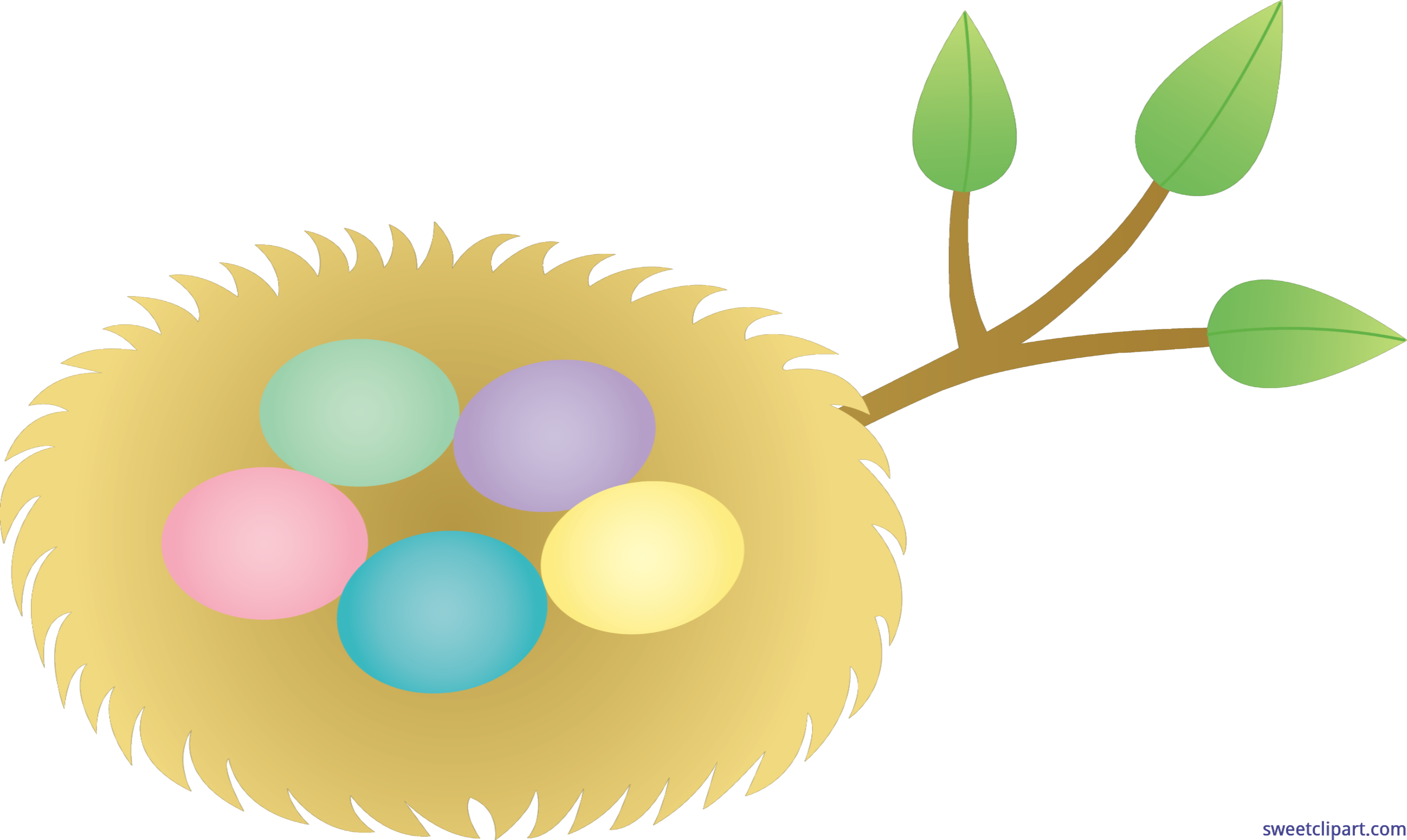 clipart freeuse download Nest clipart bird food. Easter eggs clip art.