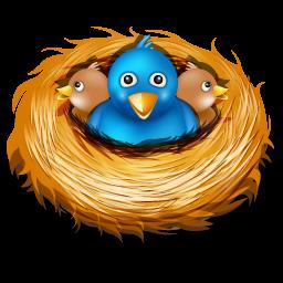 vector freeuse Tweet bird . Nest clipart birs
