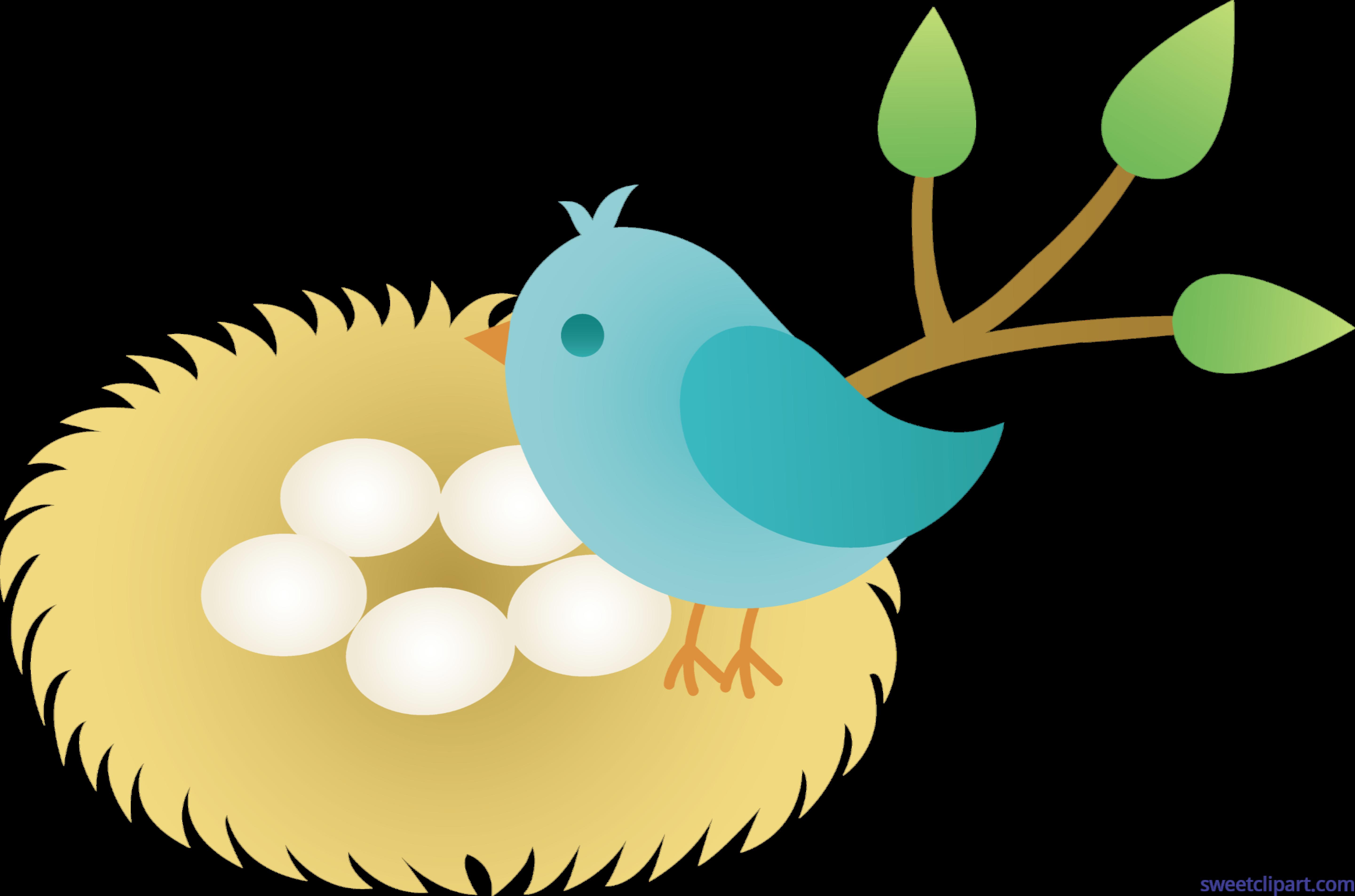 clip art royalty free Unconditional Bird Nest Cartoon With Eggs Clip Art Sweet