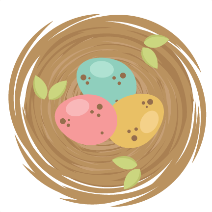 clip royalty free library Bird png transparent images. Nest clipart cute.