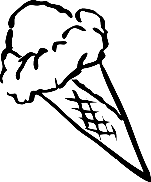 vector transparent Ice cream shop clipart black and white. Outline free on dumielauxepices